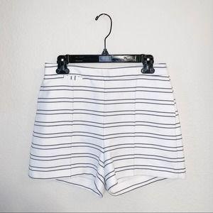 Zara Structured Striped Shorts